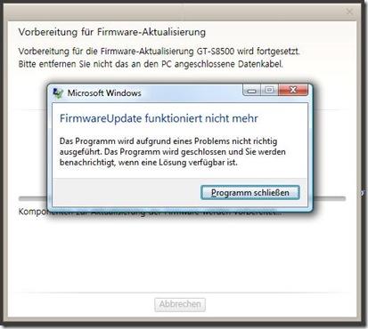 firmwareupdatefehlfunktion